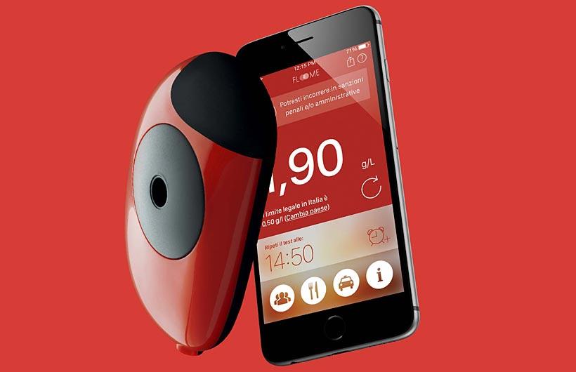 Idee Regalo #redxmas-etilometro-floome-smartphone