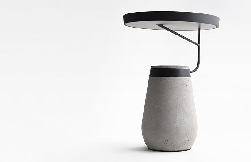 Andrea Ponti - Kanban il tavolino in acciaio e cemento