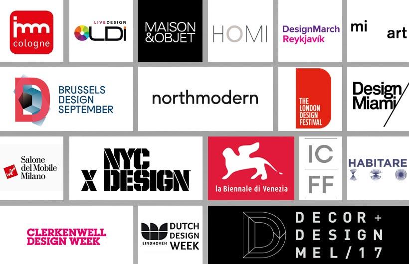 Eventi di Design 2017. Un calendario ricco di appuntamenti.
