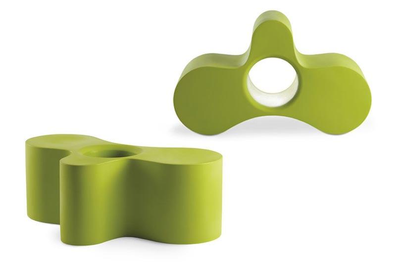Seduta modulare in polietilene di design Wheely