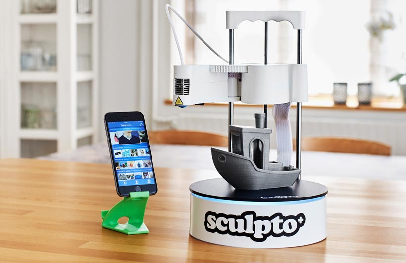 Nuova stampante 3D desktop user-friendly: Sculpto+