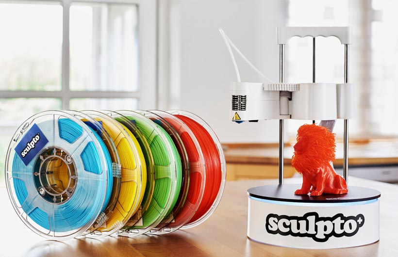 Nuova stampante 3D desktop user-friendly: Sculpto+