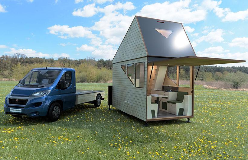 casa mobile in legno con veranda
